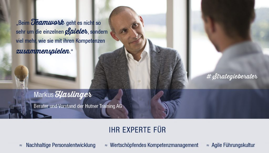 Strategieberater Markus Haslinger Hutner Training AG